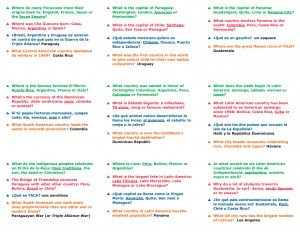 SummitRUN Trivia Sheet Examples